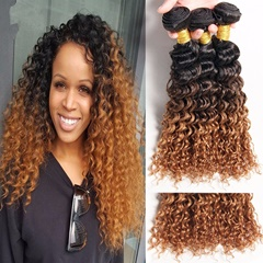 Human Hair Product 1B 4 30 Indian Hair Extensions Long Kinky Curly Weft Hair Extension Unprocessed Virgin Indian Human Hair Christmas Gifts For Women