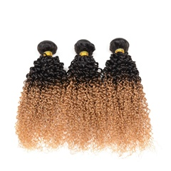 1B #27 Kinky Curly Peruvian Hair Extensions Daily Hair Product Tone Color Virgin Human Hair Unprocessed Peruvian Weft Hair Extension