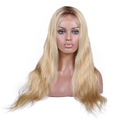 Grace Fantasy #613 Blonde Lace Front Wigs Human Hair Wavy with Baby Hair Long Brazilian Virgin Hair Frontal Lace Wig for Black Women Pre-plucked