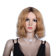 Grace Fantasy Honey Blonde Lace Front Wigs Short Brazilian Human Hair Natural Wave Glueless Full Lace Wigs With Combs For Black Women
