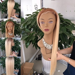 Brown to Blonde #30/#27Straight Lace Front Human Hair Wigs Pre Plucked With Baby Hair Unprocessed Virgin Brazilian Hair Wig For Women Glueless Lace Front Wigs
