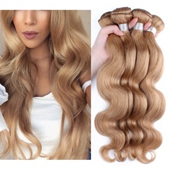 100% Remy #27 Color Mongolian Human Hair Extensions Double Weft Hair Extension Natural Hair Long Body Wave Mongolian Hair Extension