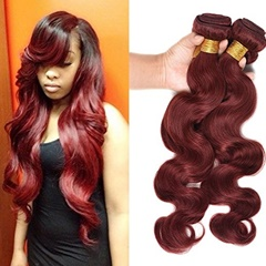 Grace Fantasy Hair 100% Unprocessed Virgin Mongolian Hair Extentions #33 Long Body Wave Weft Hair Extension For Women