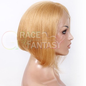 For Black Women Remy Hair Glueless Lace Front Wig