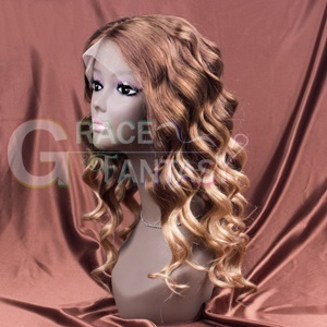 Remy Wigs Human Hair Loose Wave Blonde Color