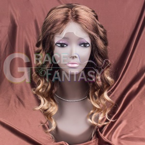 Grace Fantasy Brown to Blonde Lace Front Human Hair Wigs