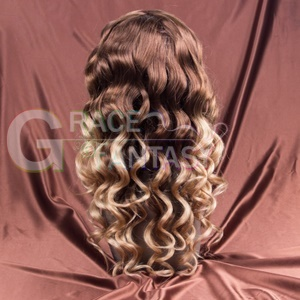 Fading to #613 Human Hair Wig 100% Human Hair Curly Wigs