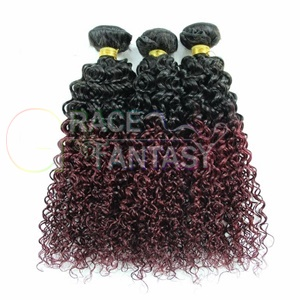 Grace Fantasy Ombre Remy Weft Human Hair Extensions