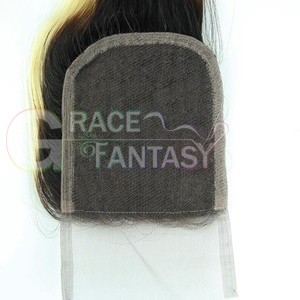Middle Three Part Blonde Top Lace Closures