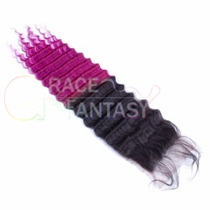 art 130% Density Natural Color Black to Purple Curly
