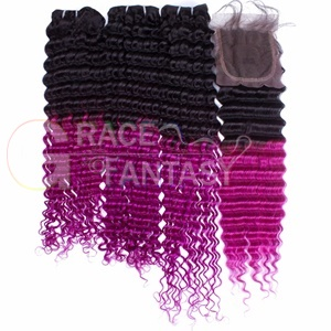 Grace Fantasy 4*4 Malaysian Deep Curly Hair Closures