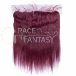 Grace Fantasy Red Lace Closures Straight