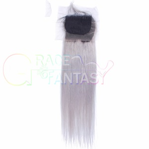 Dark Root to Grey Lace Frontal Closures