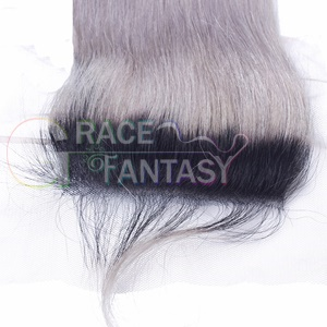lace closure Straight Free part Blonde Top
