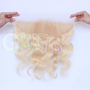 Lace Frontals #1B/613 Black to Blonde Silky Straight