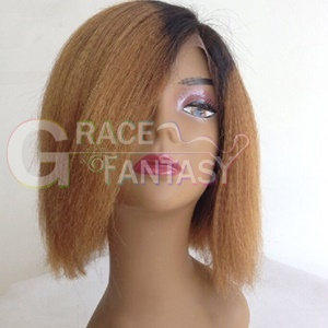 Human Hair Short Natural Black to Blonde with
