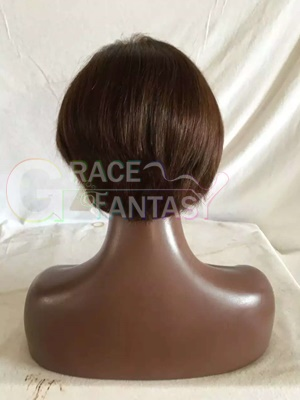 Natural Brown Color with Baby Hair Straight hair for Black Women