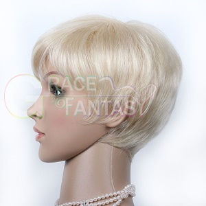Remy Human Hair Short Natural Blonde with Baby