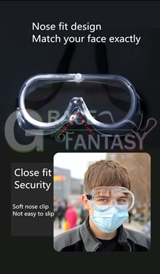 Polycarbonate Lens anti-spitting Indirect Vent Protective Safety Goggle