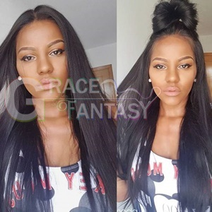 Grace Fantasy remy human hair lip in hair extensions
