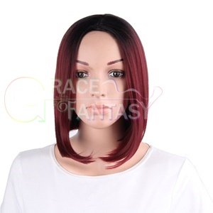 Wine Red Wig