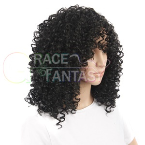 Bangs for African American Heat Resistant Party Wigs