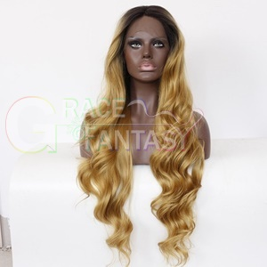 blonde body wave synthetic lace front wigs for black women 26inch long wavy trends medium cap hair