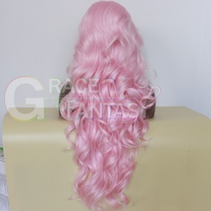pink synthetic wigs