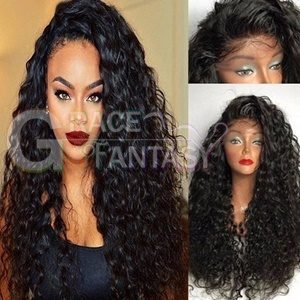 wholesale Pre Plucked Curly Synthetic Lace Front Wigs