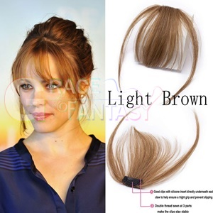 different color black brown natural looking bangs