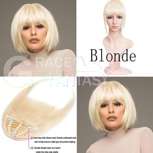 hair extensions bangs with clip blonde brown black color