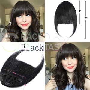 human hair extensions bangs with clip blonde brown black color