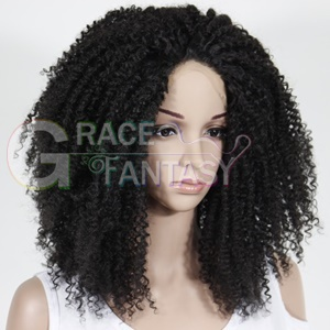 Kinky Curly Synthetic Lace Front Wig