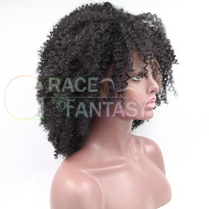 kinky curly synthetic lace wig