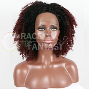Ombre 1B/99j burgundy Synthetic Hair Wigs