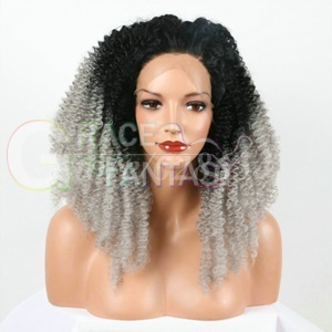 Glueless Synthetic Lace Front Wig Curly Hair wigs