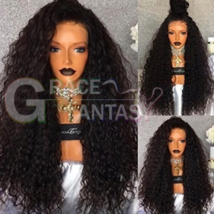 Long Curly Synthetic Lace Front Wigs