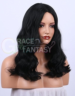 Off Black synthetic wigs