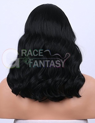 African American curly lace wig with baby hair