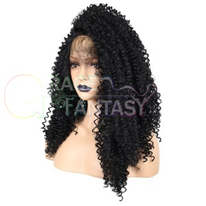 Black Side Part Synthetic Lace Front Wigs