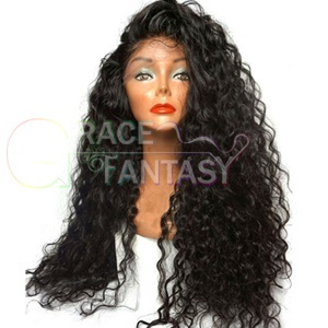 Plucked Synthetic Lace Wigs for Black Women