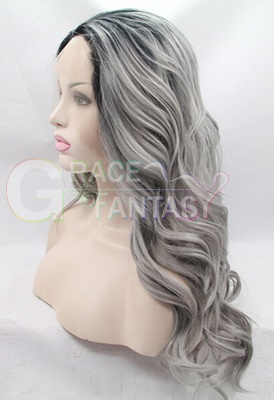 Natural Wave Lace Front Synthetic Wigs For Women