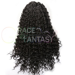 #1B Black Hair Curly Wig for African Americans