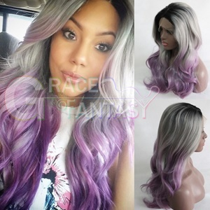 Wave Grey Synthetic Lace Front Wigs
