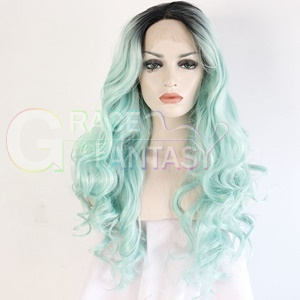 Ombre Lace Front Wigs Synthetic Hair with Baby Hair