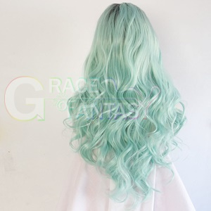 #1BTMint Green Ombre Synthetic Hair Wigs for Women