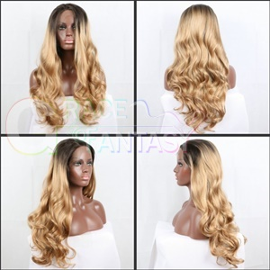 Dark Root Blonde Synthetic Wig