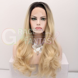 synthetic lace front blonde wigs