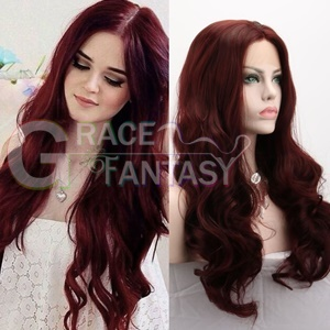 top fashion natural light blonde body wave synthetic lace front wigs