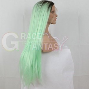 silky straight synthetic lace front wigs